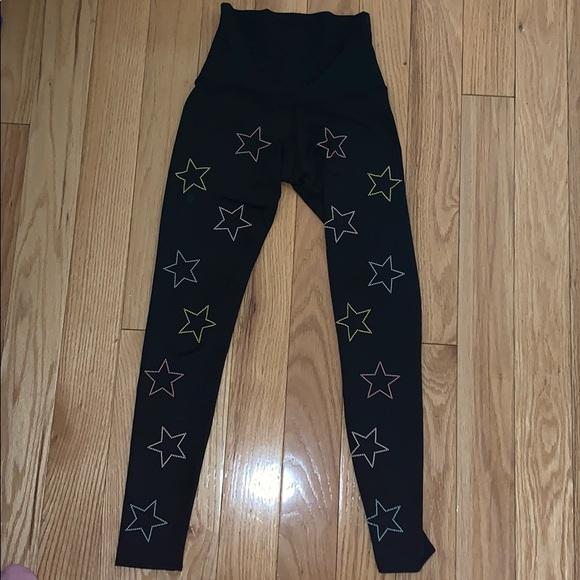 Beach Riot Pants - Beach riot high waisted star leggings